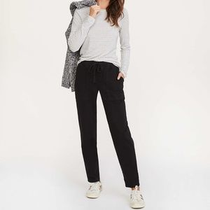 Lou & Grey Brushed Sateen Utility Pants in Black